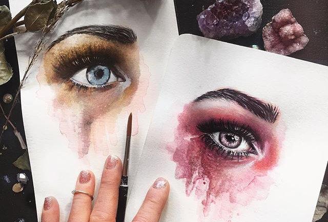 """one eye, two heartbeats"" print"