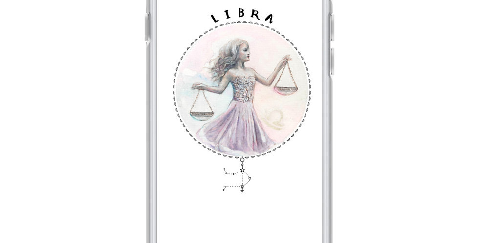 """libra"" white iphone case"