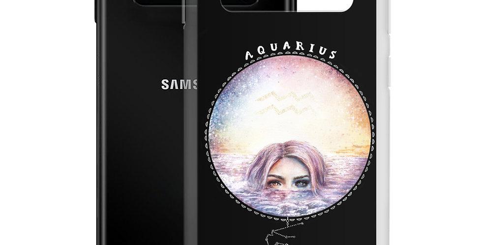 """""""aquarius"""" black samsung case"""