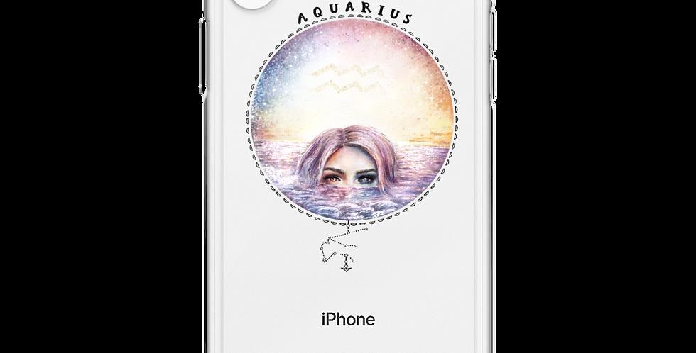 """""""aquarius"""" clear iphone case"""