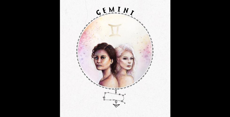 """""""gemini"""" vintage texture print"""