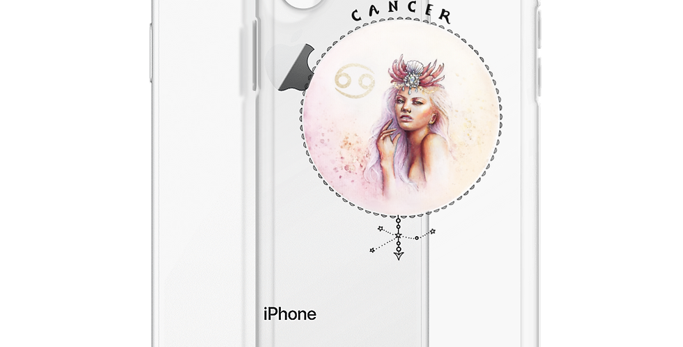 """""""cancer"""" clear iphone case"""