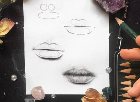 The Beginner's Guide To Drawing Realistic Lips (in 4 simple steps!)