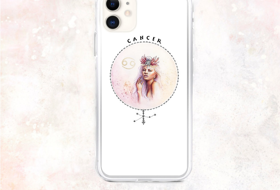 """cancer"" white iphone case"