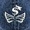 Thumbnail: $ Wing  Dark Blue Denim CAP