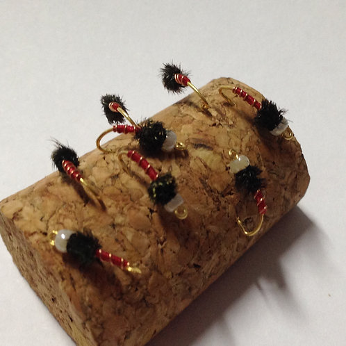 Isca de Fly Fishing Beaded Bloodworm