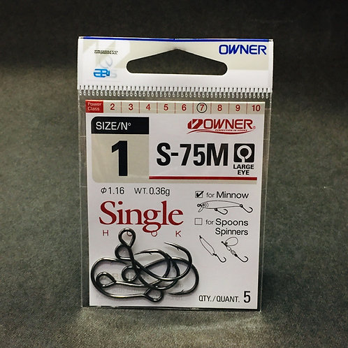Anzol Owner Single Hook S-75M #1