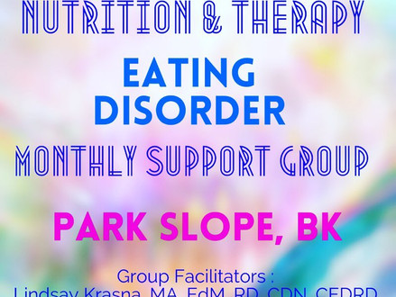 NEW ED Nutrition/Recovery Support Group