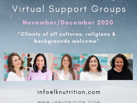 Mini Virtual Holiday Support Groups!