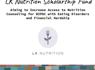 Announcing the LK Nutrition Scholarship Fund!