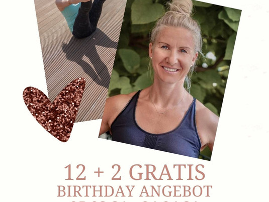 12 + 2 GRATIS - BIRTHDAY - ANGEBOT