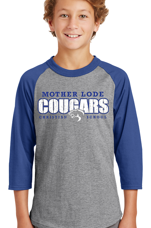 Cougars Spirit Wear (Youth Raglan)