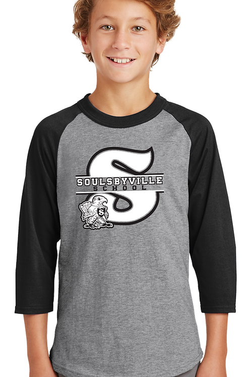"""S"" Logo Youth Boys 3/4 Sleeve"