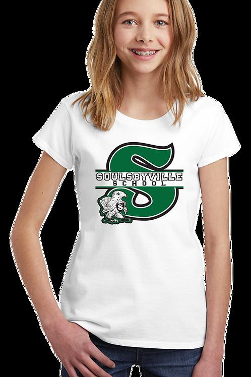 """S"" Logo Youth Girls Tee Shirts"