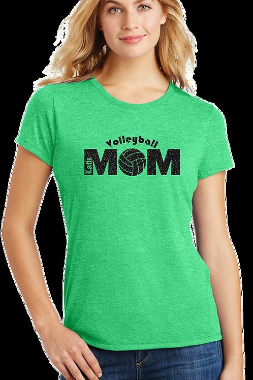 Black Glitter Vollyball Mom / Embedded Name