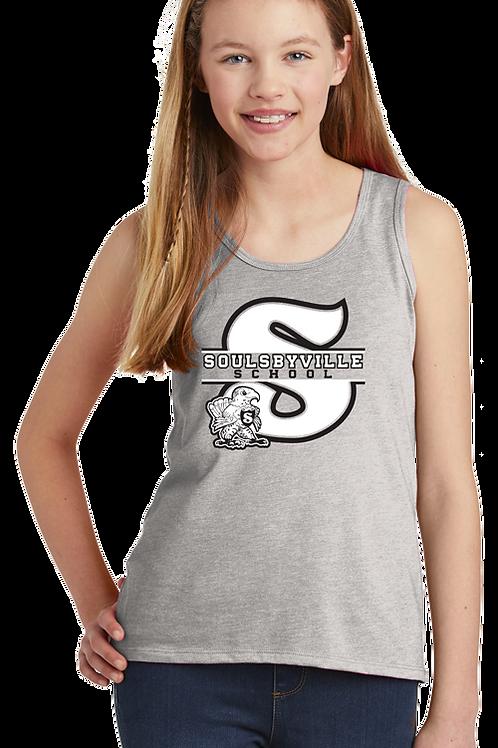 """""""S"""" Logo Youth Girls Tanks"""