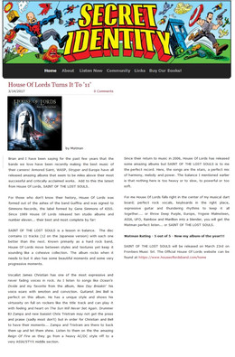Review from Secret Identity on Saint Of Lost Souls!
