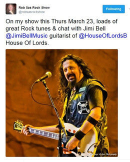 Robert Sas Rock Show interviews Jimi Bell of House Of Lords talking about 'Saint Of Lost Souls&#