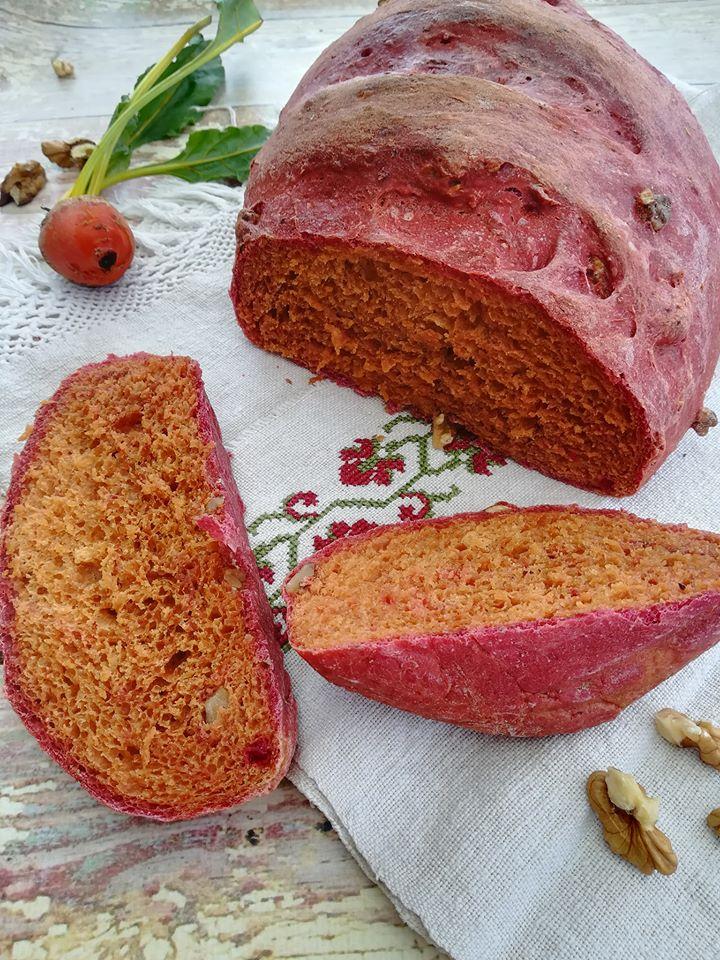 Céklás-diós kenyér