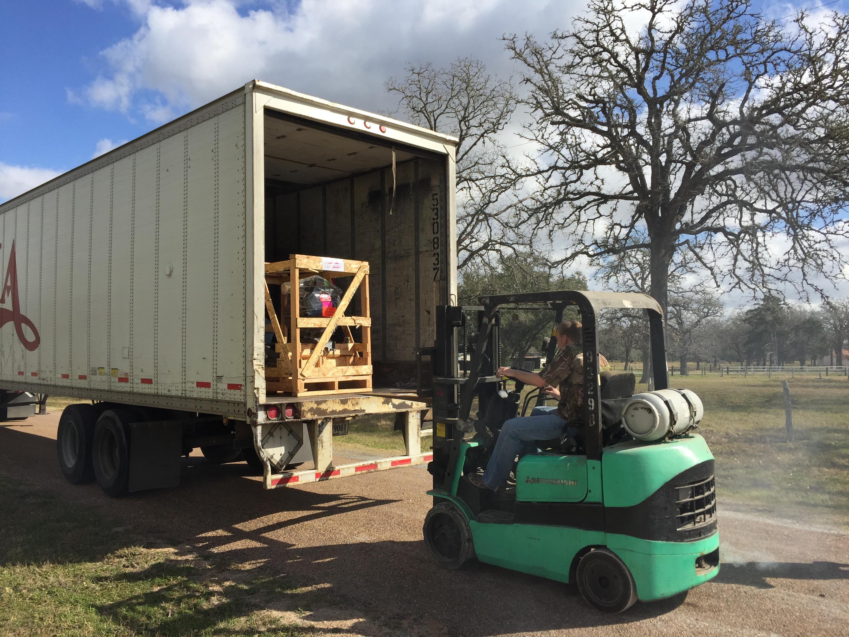 Unloading Mud Buddy motors