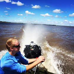 Mud Buddy mud motor on Lake Texana