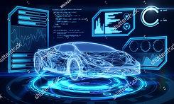 stock-photo-creative-blue-car-interface-