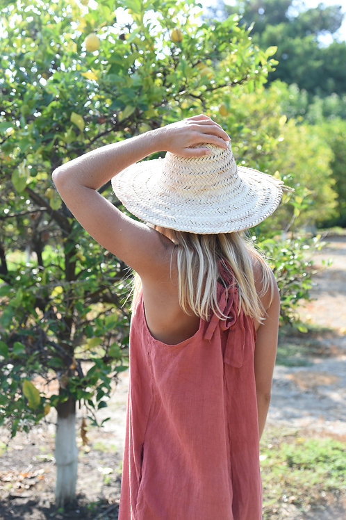 The LINEN Go To Jumpsuit-Cherry