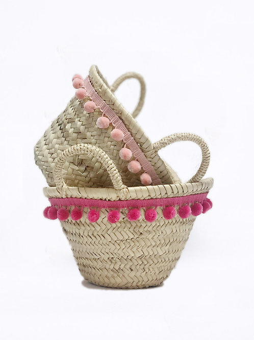 Small Pom Pom Basket