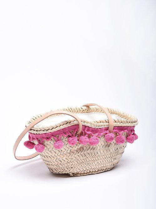 Mini-me Embroidered Pom Pom Basket