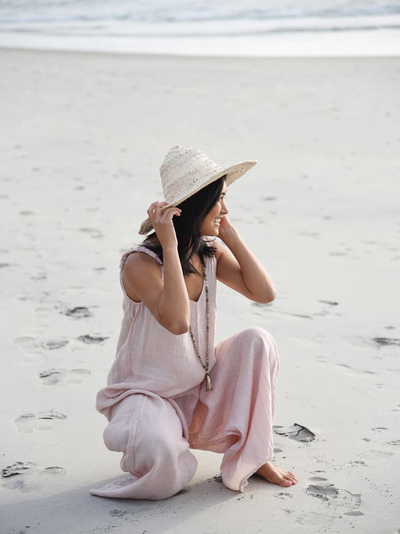 Blush Linen Jumpsuit