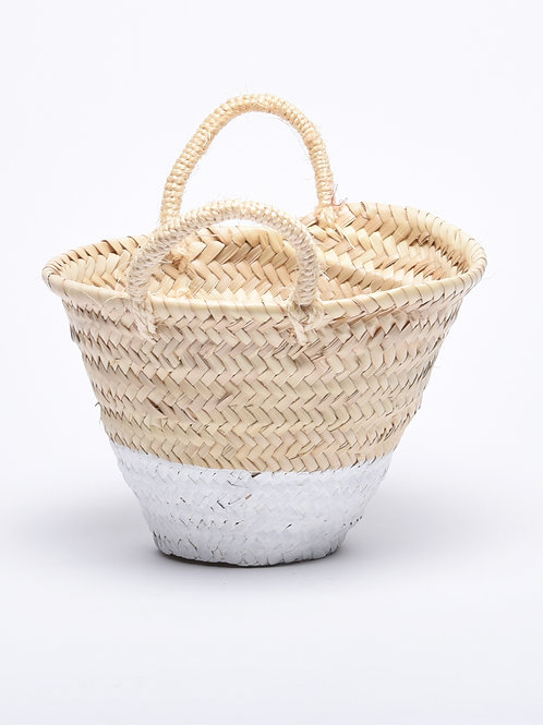 Small Traditional White Basket