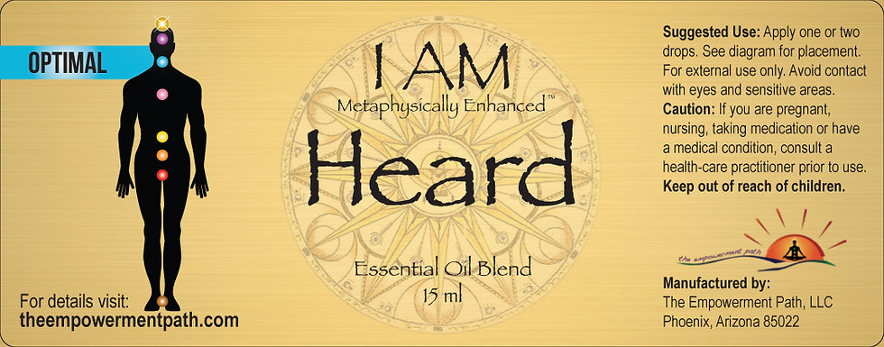 I AM HEARD Metaphysically Enhanced Oil 15ml