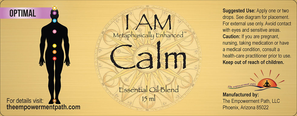 I AM CALM Metaphysically Enhanced Oil 15ml