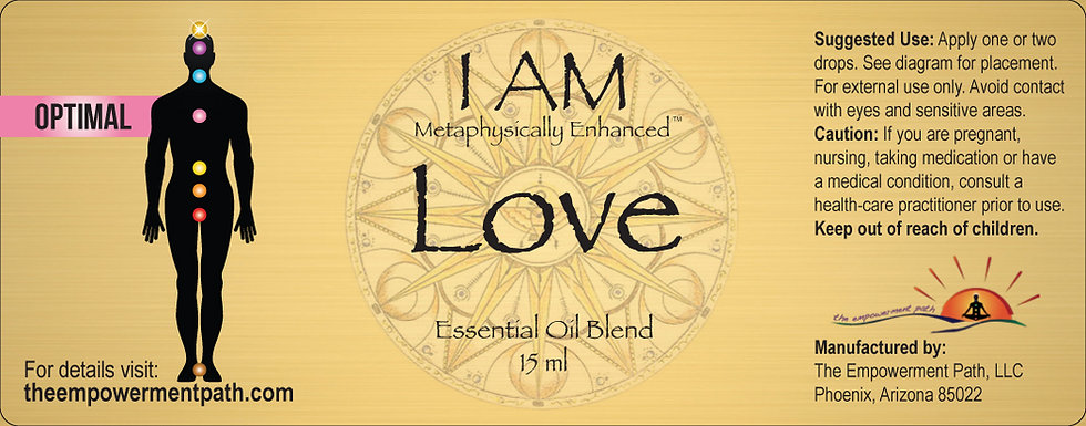 I AM LOVE Metaphysically Enhanced Oil 15ml
