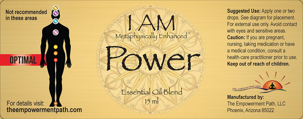 I AM POWER Metaphysically Enhanced Oil 15ml
