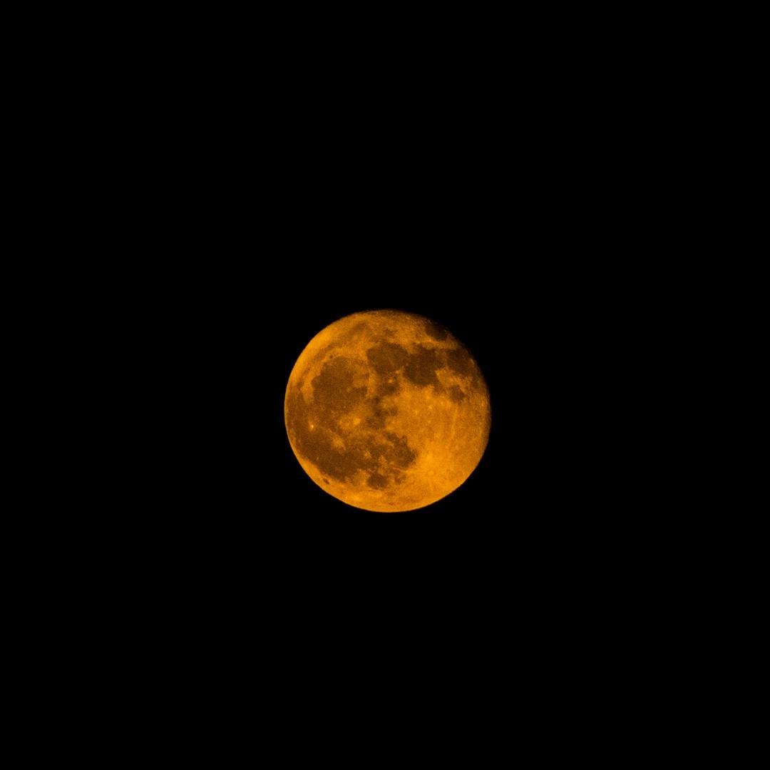 Full Orange Moon