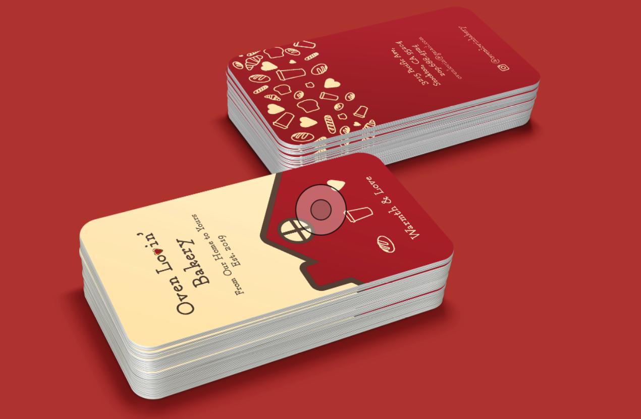 Oven Lovin'BakeryBusiness Cards