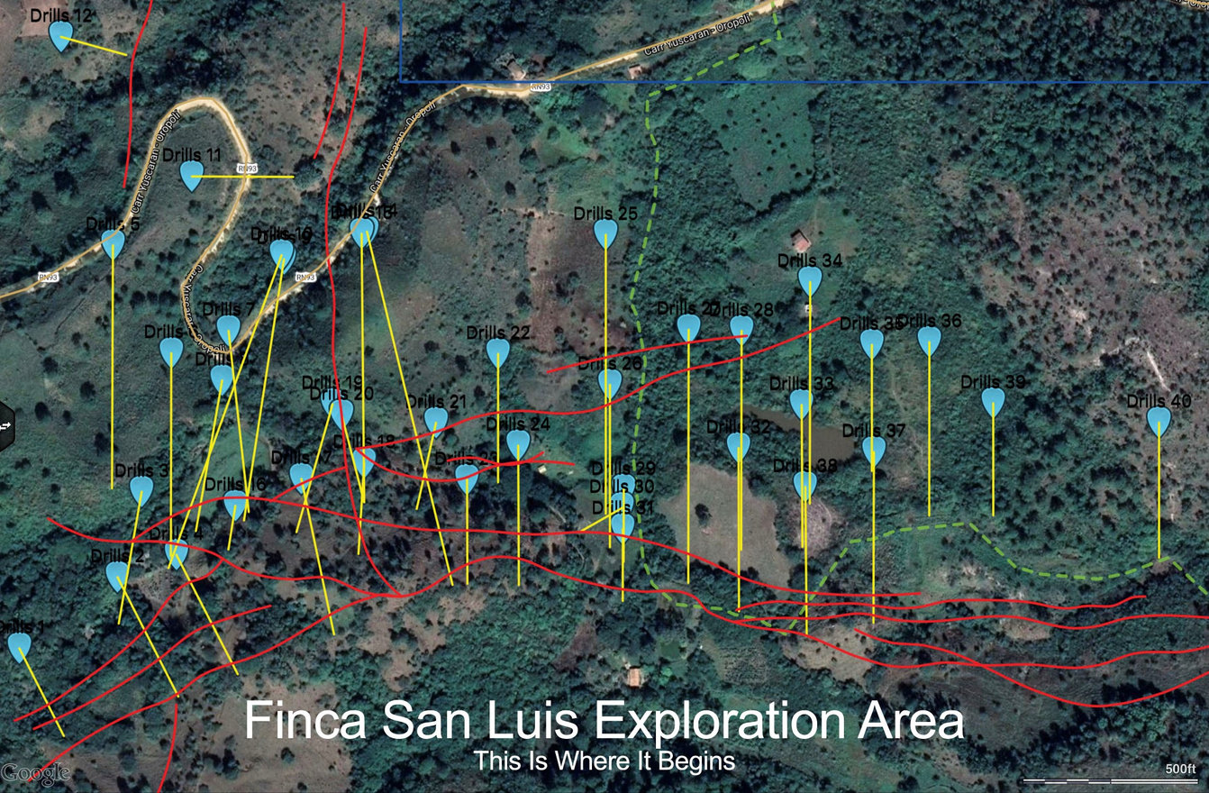 Guayabillas Drill Zone Accessible From Finca San Luis Property