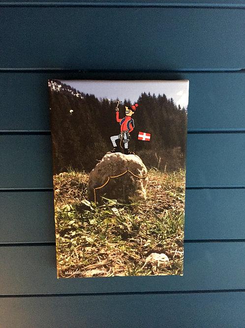 """Toile imprimée """"l'alpiniste"""""""