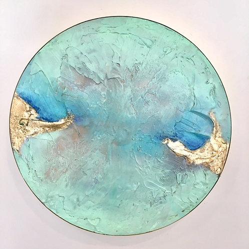Geode Seaglass Bluegreen I