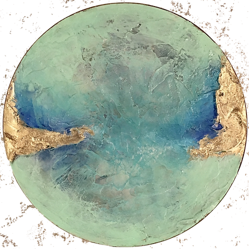 Geode Seaglass Bluegreen II