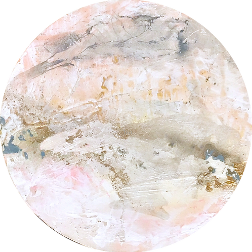 Geode Ice Pink & Gold II