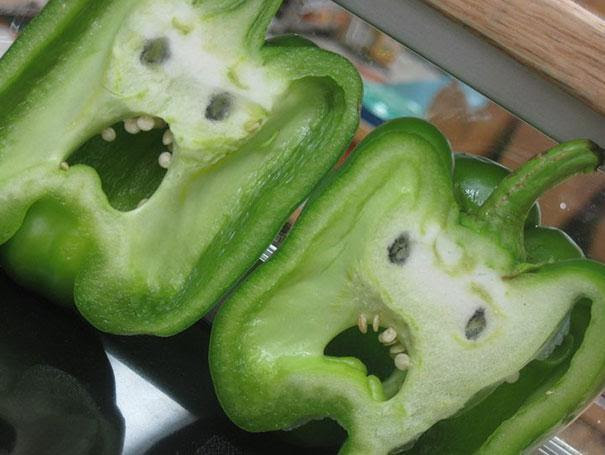 Ghoulish Green Peppers