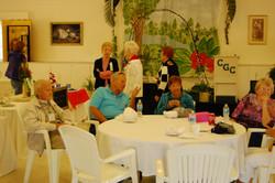 Members enjoy coffee break
