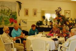 Members enjoy a coffee break
