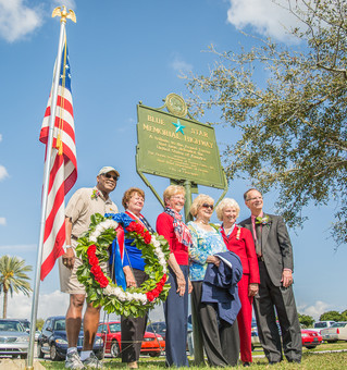 Unveiling of the Blue Star Memorial Highway Marker