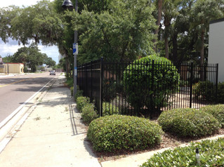 New Fence Around CGC Property Offers Security and a Refined Look