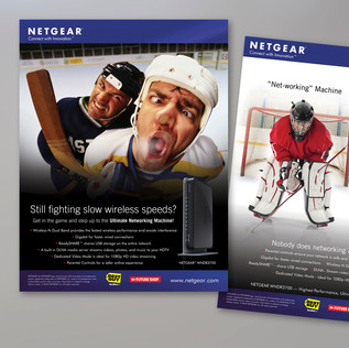 NETGEAR HOCKEY GAME PROGRAM ADVERTISMENTS