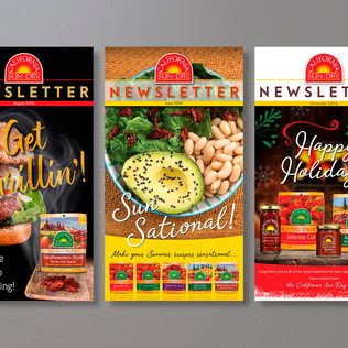 CALIFORNIA SUN DRY FOODS E-NEWSLETTER LEAD PAGES