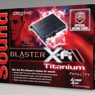 SOUND BLASTER XFi TITANIUM SOUND CARD